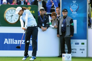 18-09-15 Ladies European Tour 2015, The Solheim Cup, Golf Club St. Leon-Rot, Germany. 18-20 Sep. TEAM Europe: Azahara  Munoz of Spain during the first day at Friday.