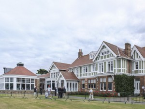 16-07-13 European Challenge Tour 2013, THE 142nd OPEN Championship, Muirfield, Gullane, East Lothian, Scotland, UK. 18-21 July. A view of the clubhouse during the practice round.