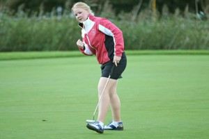 14-09-15 PING Solheim Cup 2015, Golf Club St. Leon Rot, Germany. 14-15 Sep. Puk Lyng Thomsen of Denmark during the event..