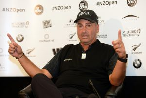 26-02-14 PGA Tour of Australasia 2014, NZ Open, The Hills & Millbrook, Queenstown, New Zealand. 27 Feb - 02 Mar. Rocco Mediate of United States talks with the media before the start of the event.