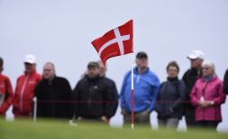 28/08/2016 European Tour 2016, Made in Denmark, Himmerland Golf & Spa Resort, Farso, Denmark. 25 - 28 Aug. Danish flag as seen during the final round.