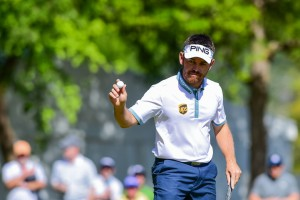25-03-16 PGA Tour 2016, WGC-Dell Match Play, Austin Country Club, Austin, TX, USA. 23 - 27 Mar. Louis Oosthuizen of South Africa reacts to the crowd after sinking putt on number 6 during round 3.